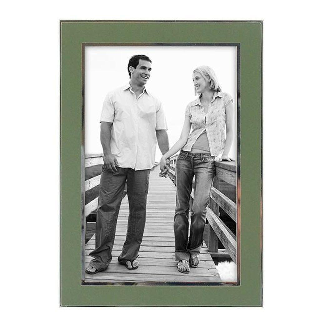 Home Decorators Collection Kate 1-Opening 4 in. x 6 in. Sleek Sage Picture Frame