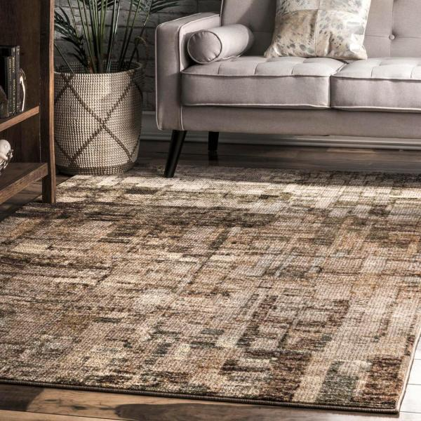 Nuloom Lilly Abstract Brown 5 Ft X 8