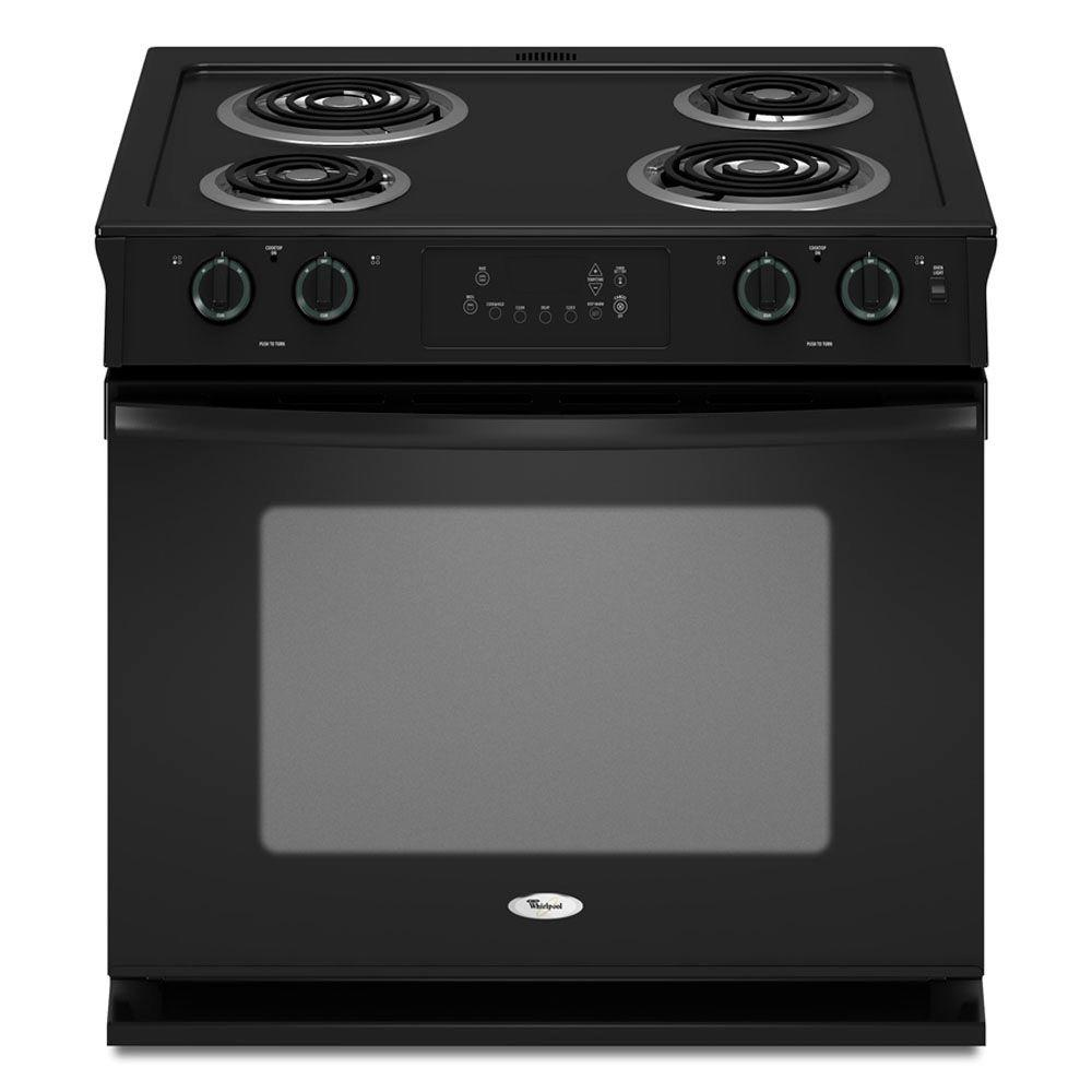 Whirlpool 4.5 cu. ft. Drop-In Electric Range with Self-Cleaning Oven in Black
