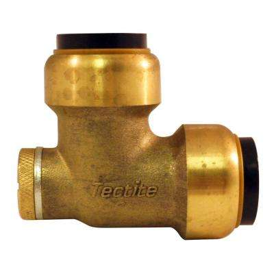 3/4 in. Brass Push-To-Connect 90-Degree Elbow with Drain/Vent