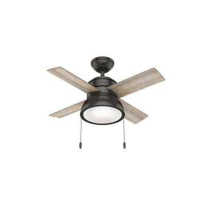 Loki 36 in. Integrated LED Indoor Noble Bronze Ceiling Fan with Light Kit