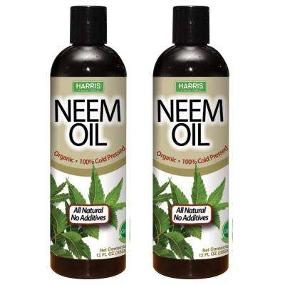 12 oz. 100% Cold Pressed Unrefined Cosmetic Grade Neem Oil (2-Pack)