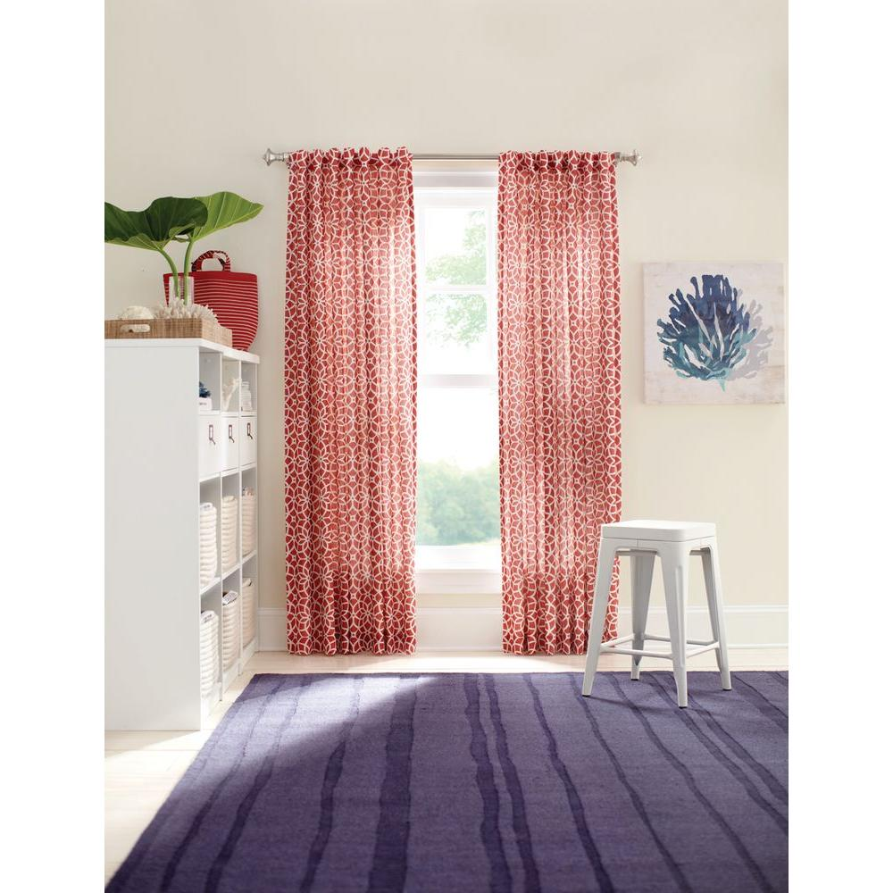 Martha Stewart Living Blackout Maine Lobster Full Bloom Back Tab Curtain