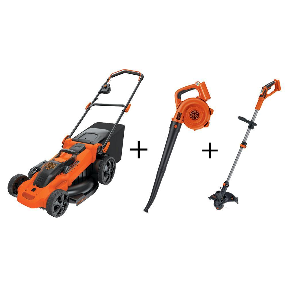 20 In 40 Volt Max Li Ion Cordless Battery Push Mower With Bonus