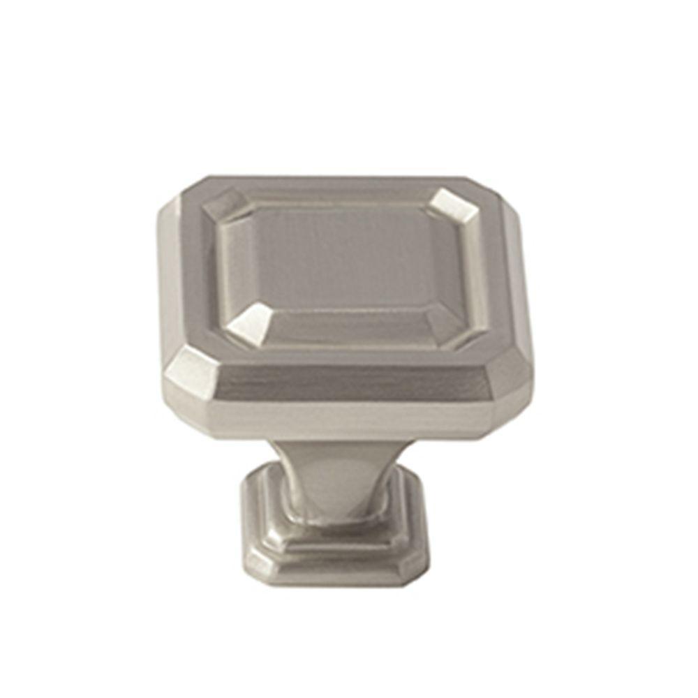 Wells 1-1/4 in. (32 mm) Satin Nickel Cabinet Knob