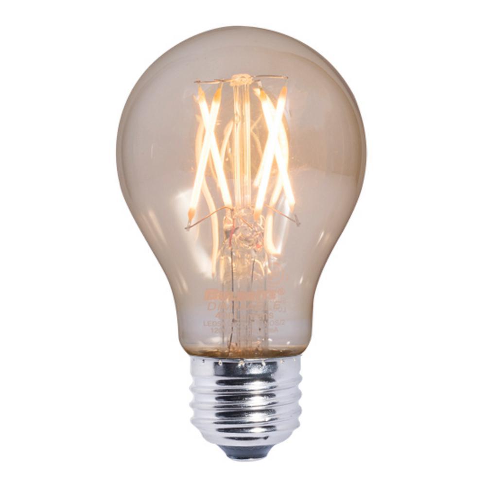 Bulbrite 40w Equivalent Warm White Light G16 Dimmable Led: Bulbrite 40W Equivalent Amber Light A19 Dimmable LED