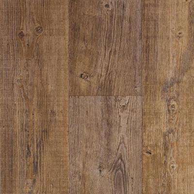 Weathered Plank Natural 13.2 ft. Wide x Your Choice Length Residential Vinyl Sheet Flooring
