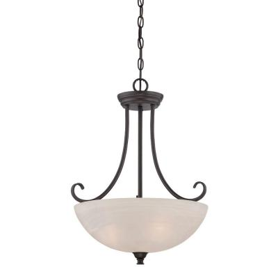 Kendall 1-Light Oil-Rubbed Bronze Down Pendant