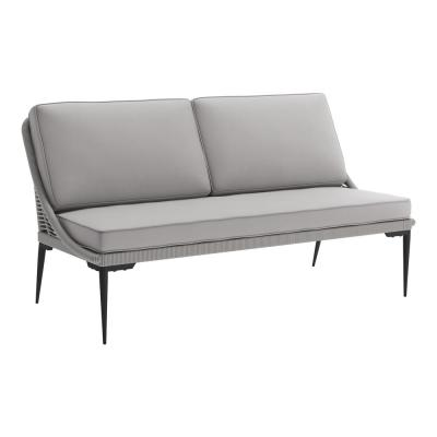 Tahiti Metal Outdoor Couch with Dark Gray Cushions