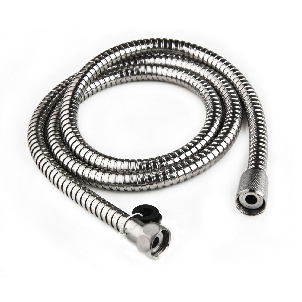 60 in. Stainless Steel RV Shower Hose in Chrome