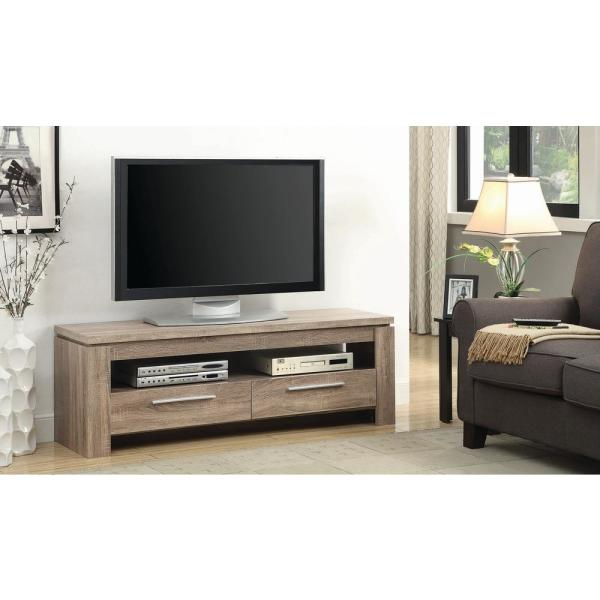 Coaster 2-Drawer TV Console Weathered Brown 701975