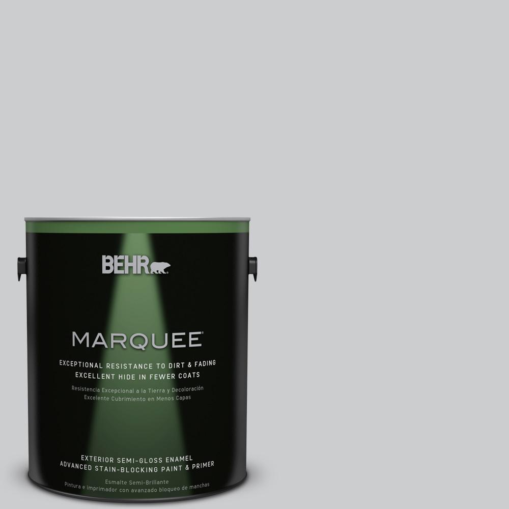 Behr Marquee 1 Gal 770e 2 Silver Screen Semi Gloss Enamel Exterior Paint 545001 The Home Depot