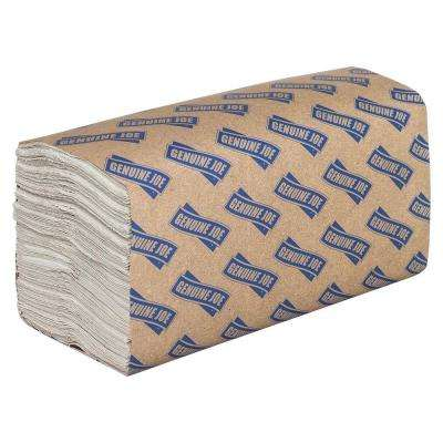 13 in. x 10.1 in. C-Fold Paper Towels (2,400 Sheets per Carton)