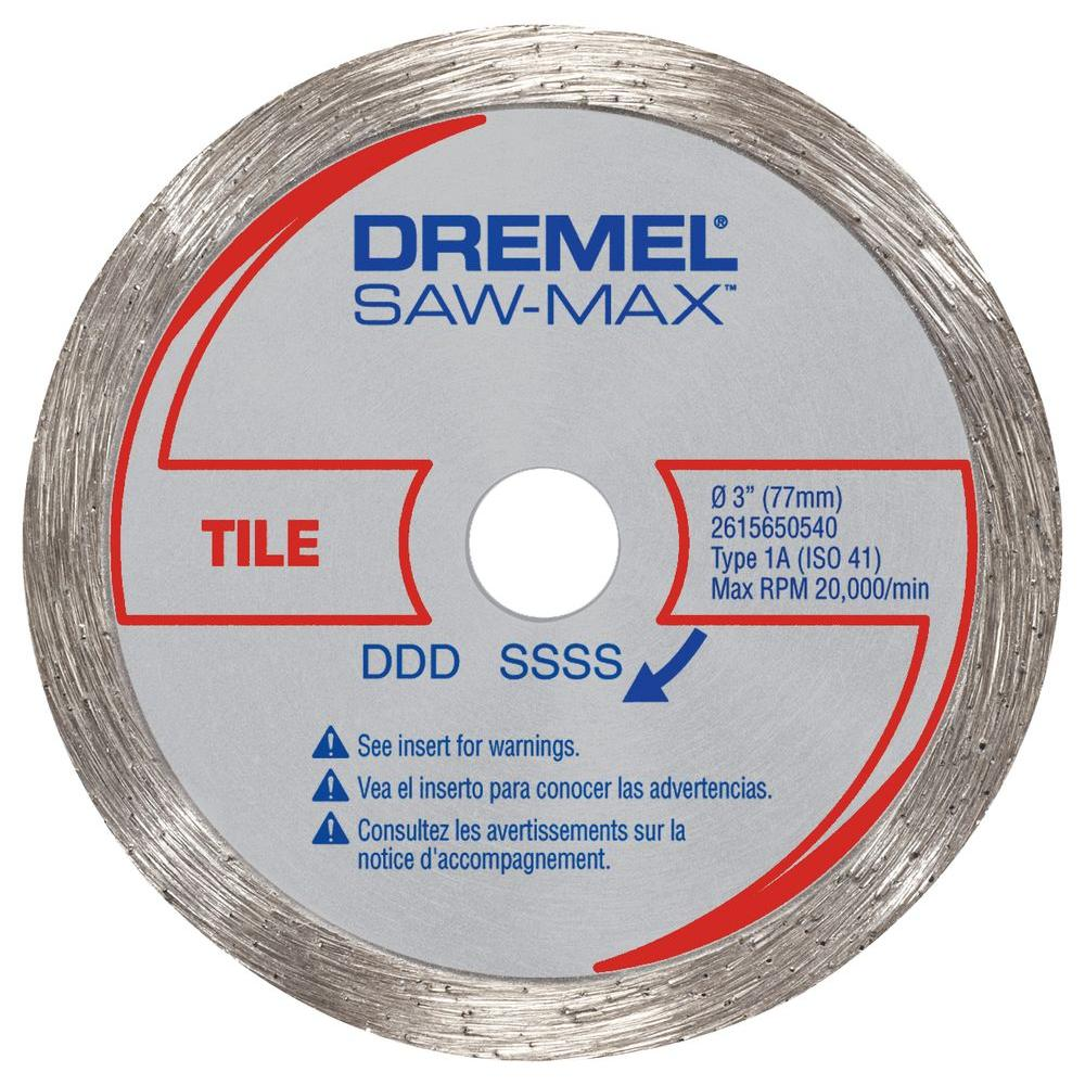 Dremel Saw Max 3 In Diamond Tile Wheel Sm540 The Home Depot
