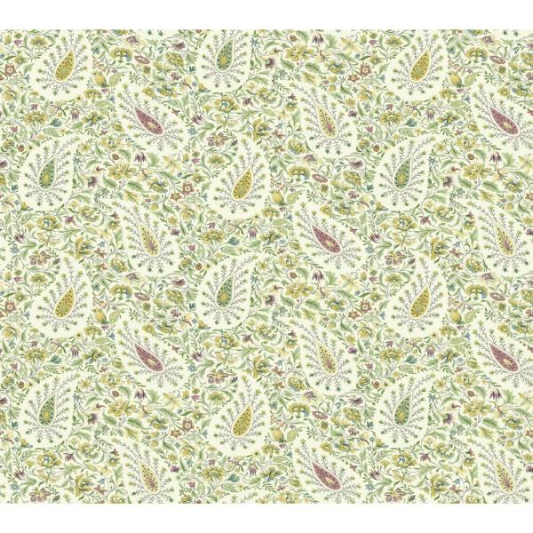 York Wallcoverings Waverly Paisley Verveine Wallpaper GP5956