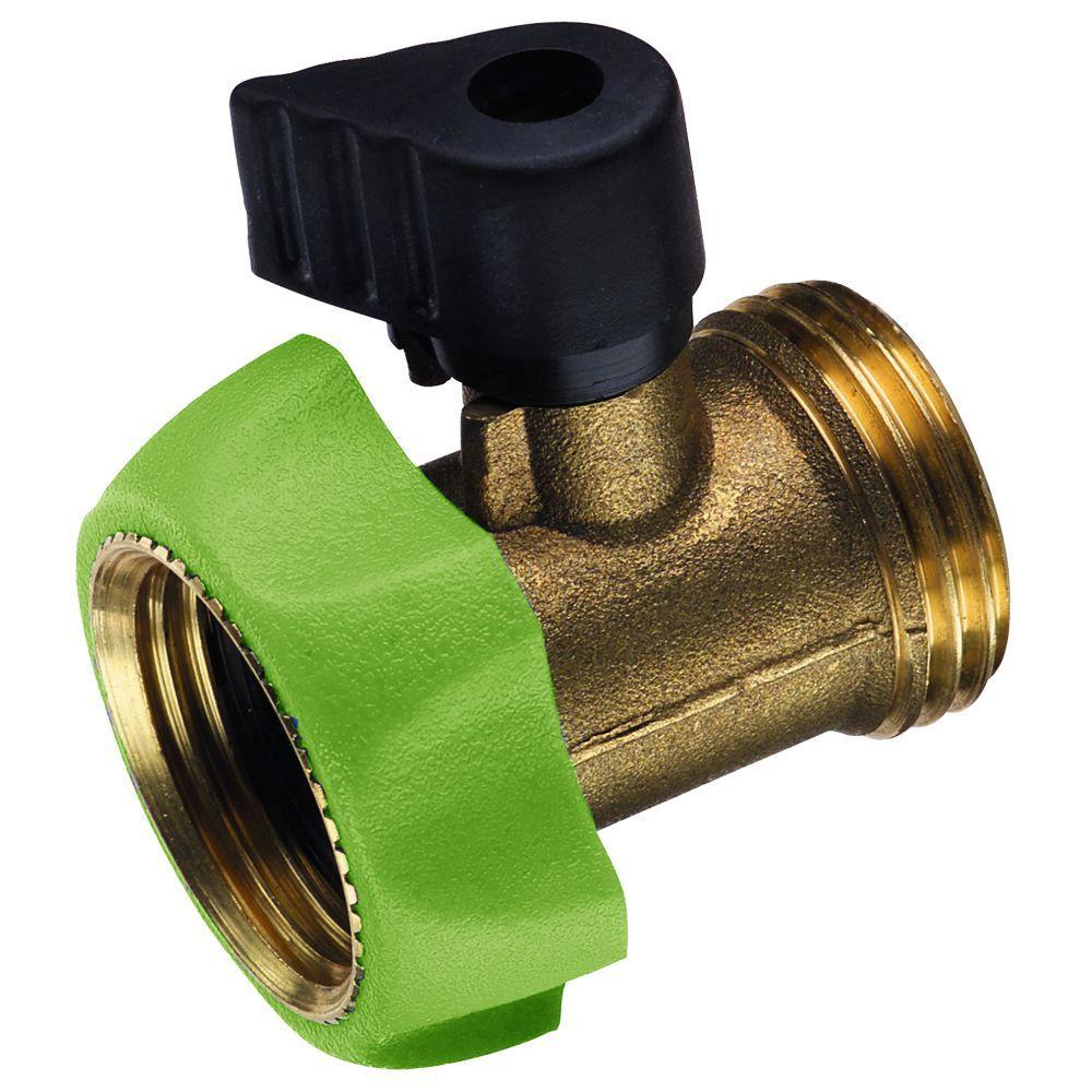 PRO Series Deluxe Brass Garden Hose Shut-Off Adapter