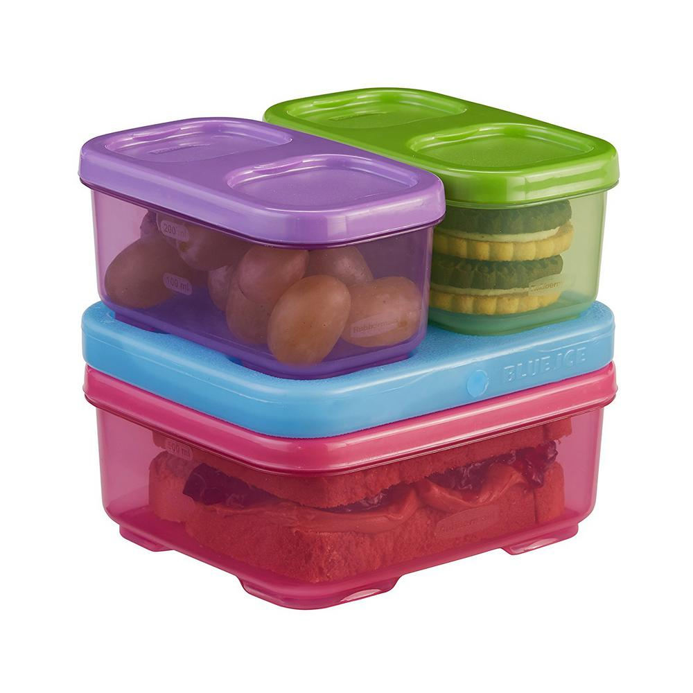 Rubbermaid Lunch Blox Kids 4 Piece Pink Storage Container