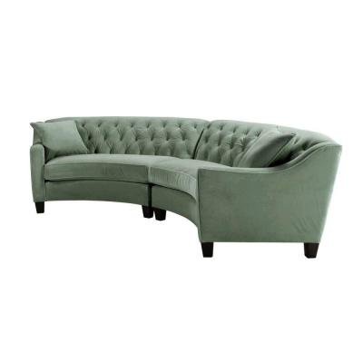 Riemann 2-Piece Microsuede Blue Mist Sectional