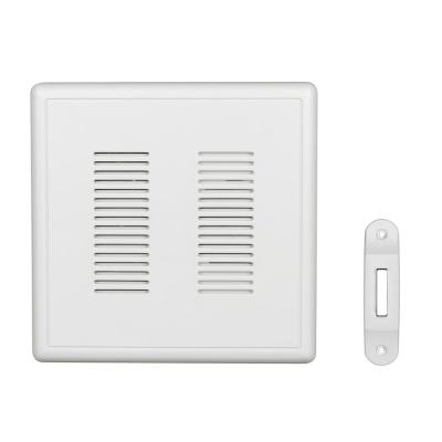 PrimeChime Plus 2 Video Compatible Wired Door Bell Chime Kit with White Decorative Button