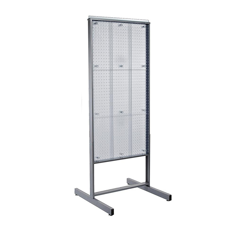 Exhibition Stand Lighting Home Depot : Azar displays in h w clear two sided pegboard