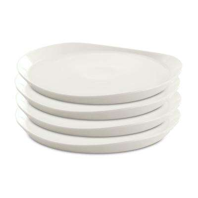Eclipse White Porcelain Round Plate (Set of 4)