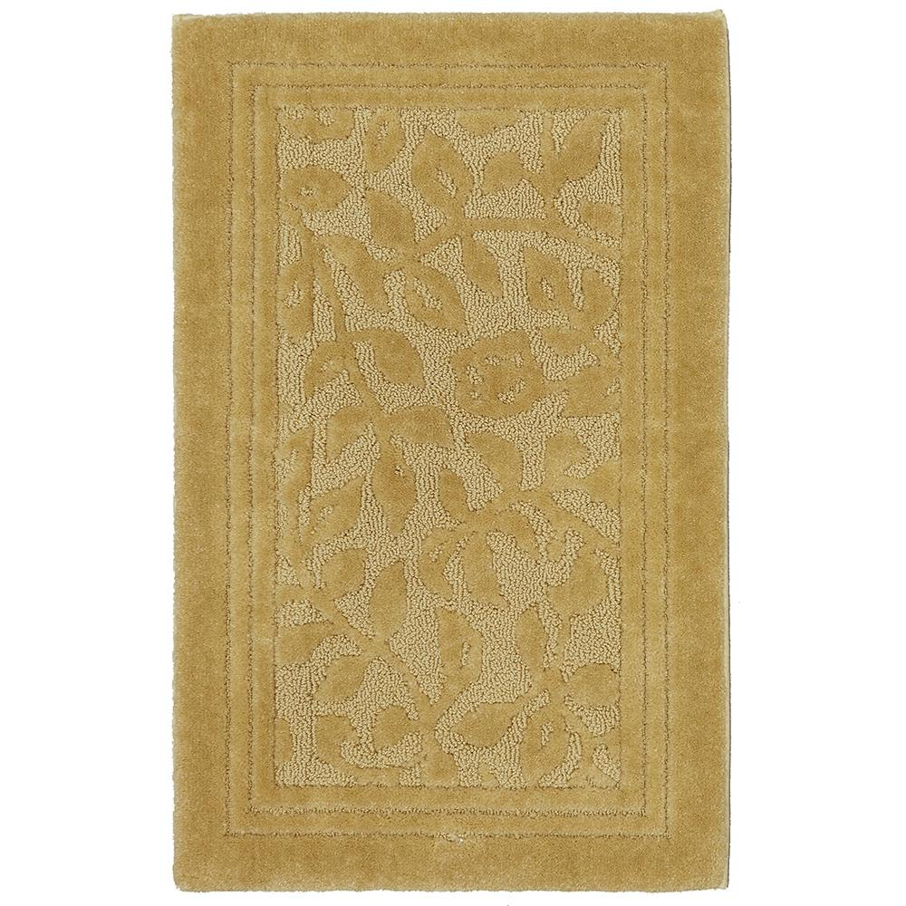 Wellington 30 in. x 50 in. Nylon Bath Rug in Gold