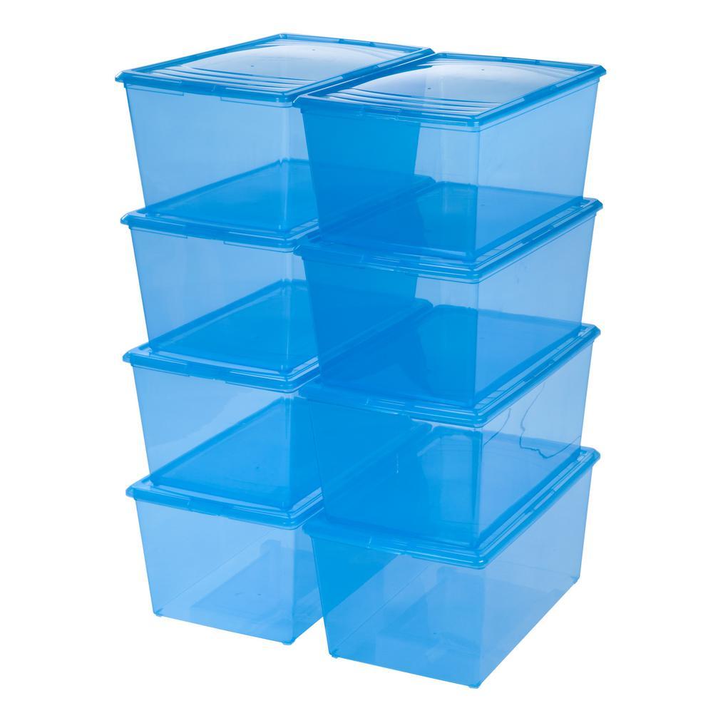 64-Qt. Modular Storage Box in Blue (8-Pack)