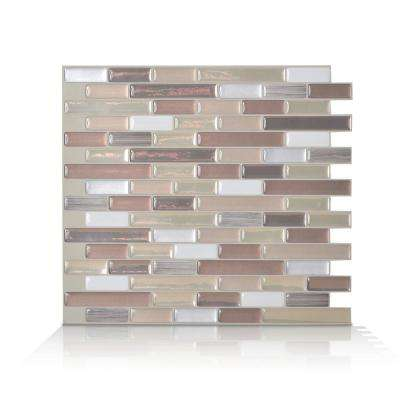 Muretto Durango Beige 10.20 in. W x 9.10 in. H Peel and Stick Self-Adhesive Decorative Mosaic Wall Tile Backsplash