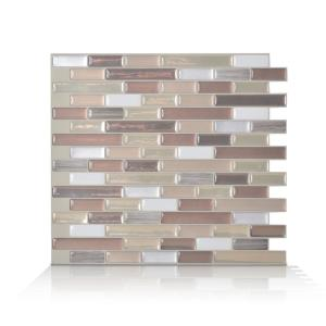 Smart Tiles Muretto Durango Beige 10.20 In. W X 9.10 In. H Peel And