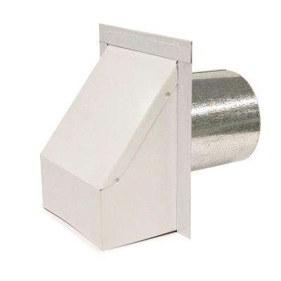 4 in. Round Heavy Duty Wall Vent with Damper in White