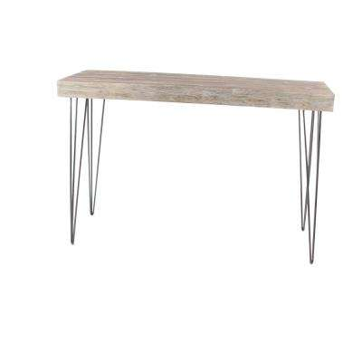 Modern Elegance Gray Wood and Iron Console Table