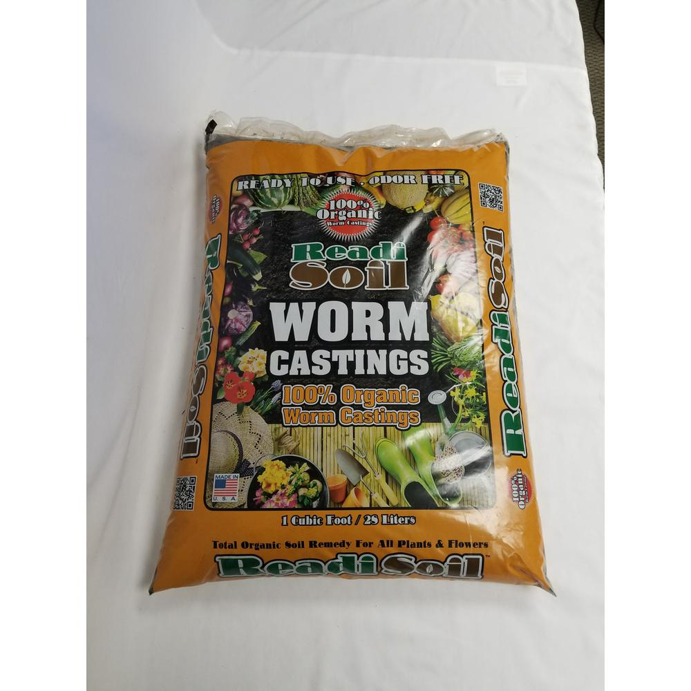 1 cu. ft. / 22 lb. 100% Organic Worm Castings Soil