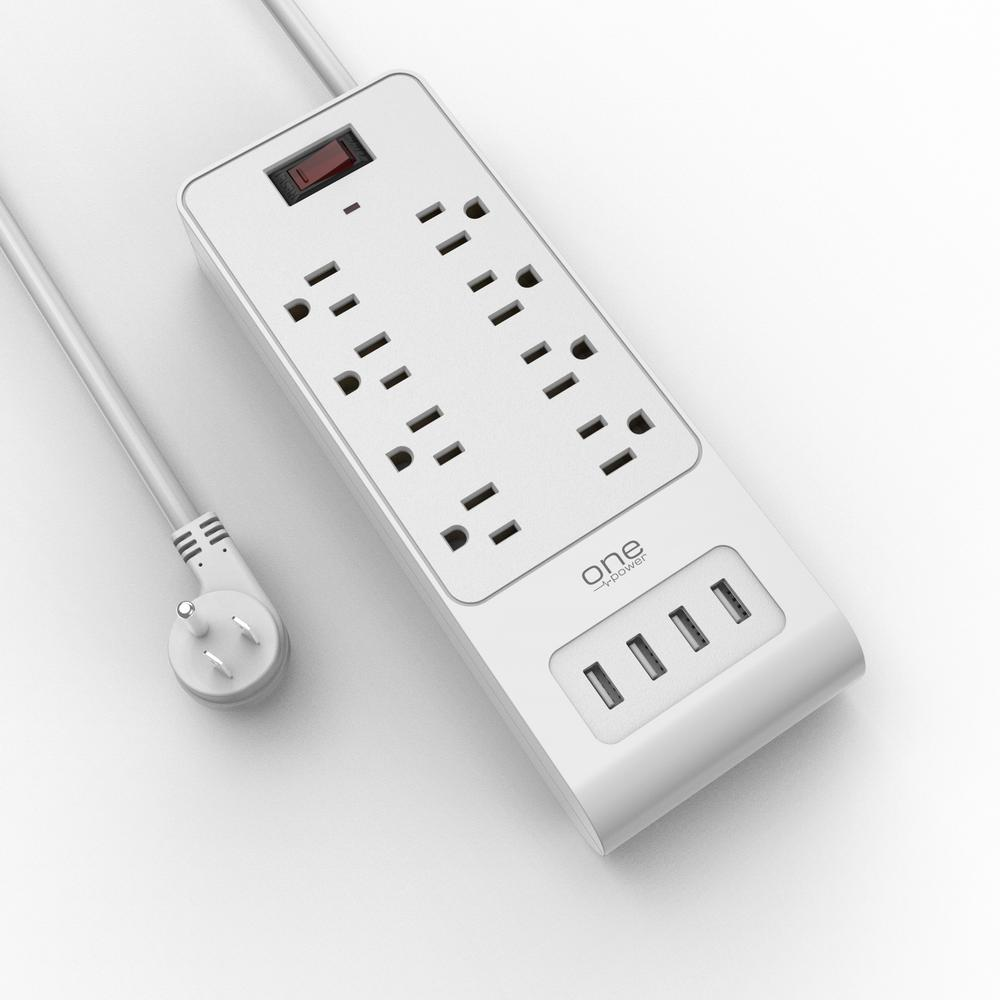 ProMounts 8 Outlet/4 USB Surge Protection Strip by One Power