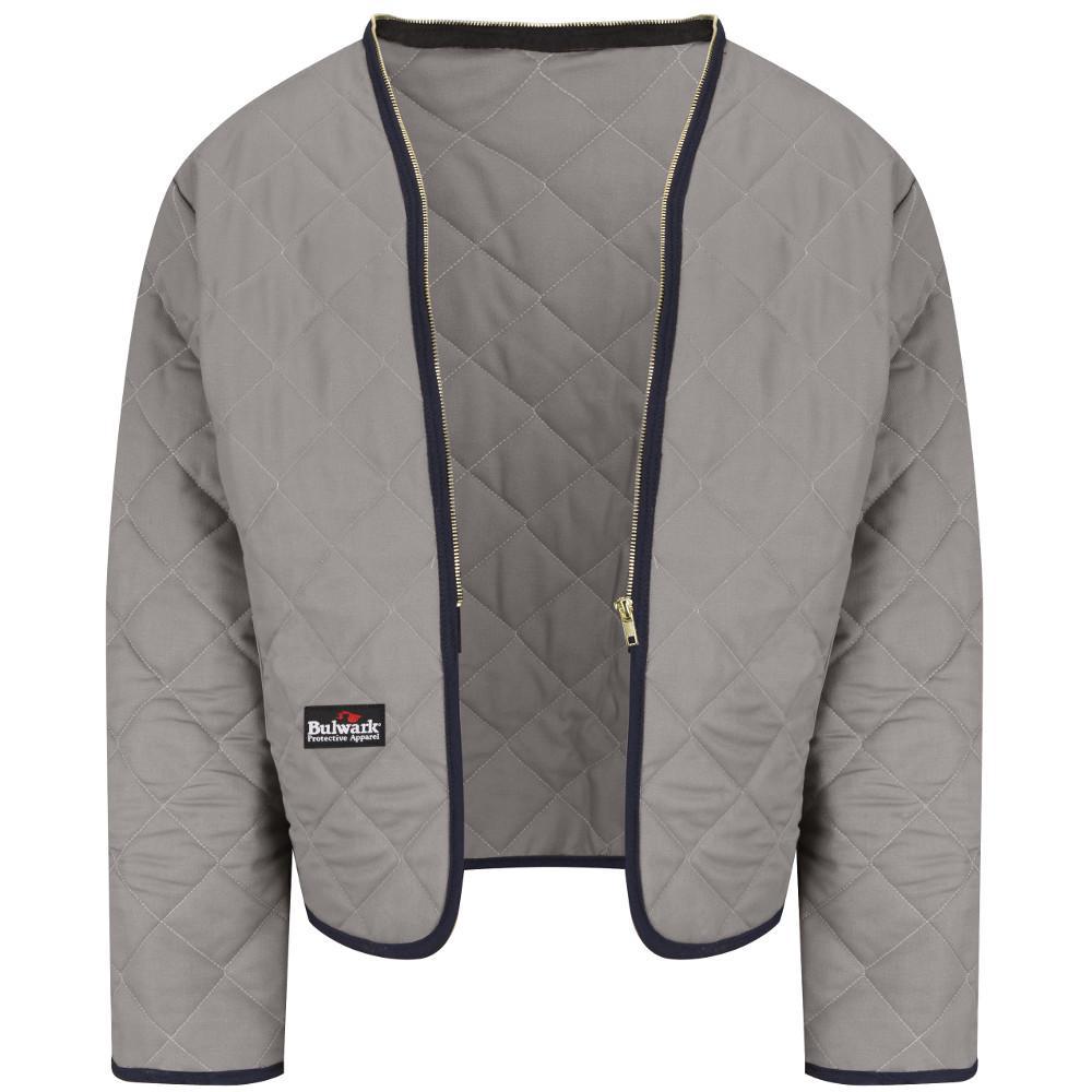 Bulwark EXCEL FR Men s Large Grey Zip-In   Zip-Out Modaquilt Liner ... 53cd3decb6e