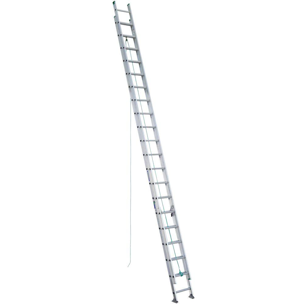 Werner 40 ft. Aluminum D-Rung Extension Ladder with 225 lb. Load Capacity Type II Duty Rating