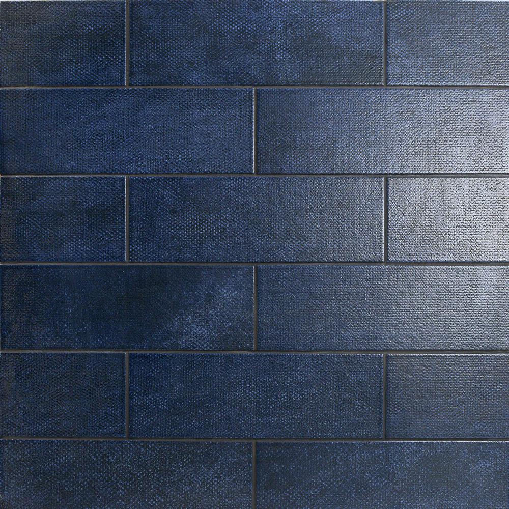 Ivy Hill Tile Piston Camp Blue 4 In X 12 In 7mm Matte