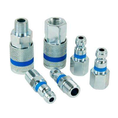 ColorMatch 1/4 in. Auto Coupler Plug Set (6-Piece)