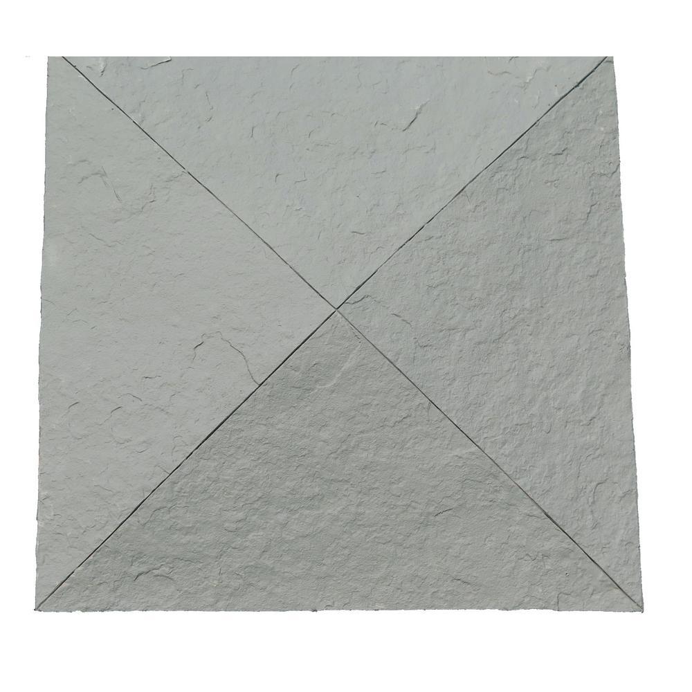 Sandstone 18 in. x 18 in. Graphite Faux Polyurethane Stone Column Wrap Cap