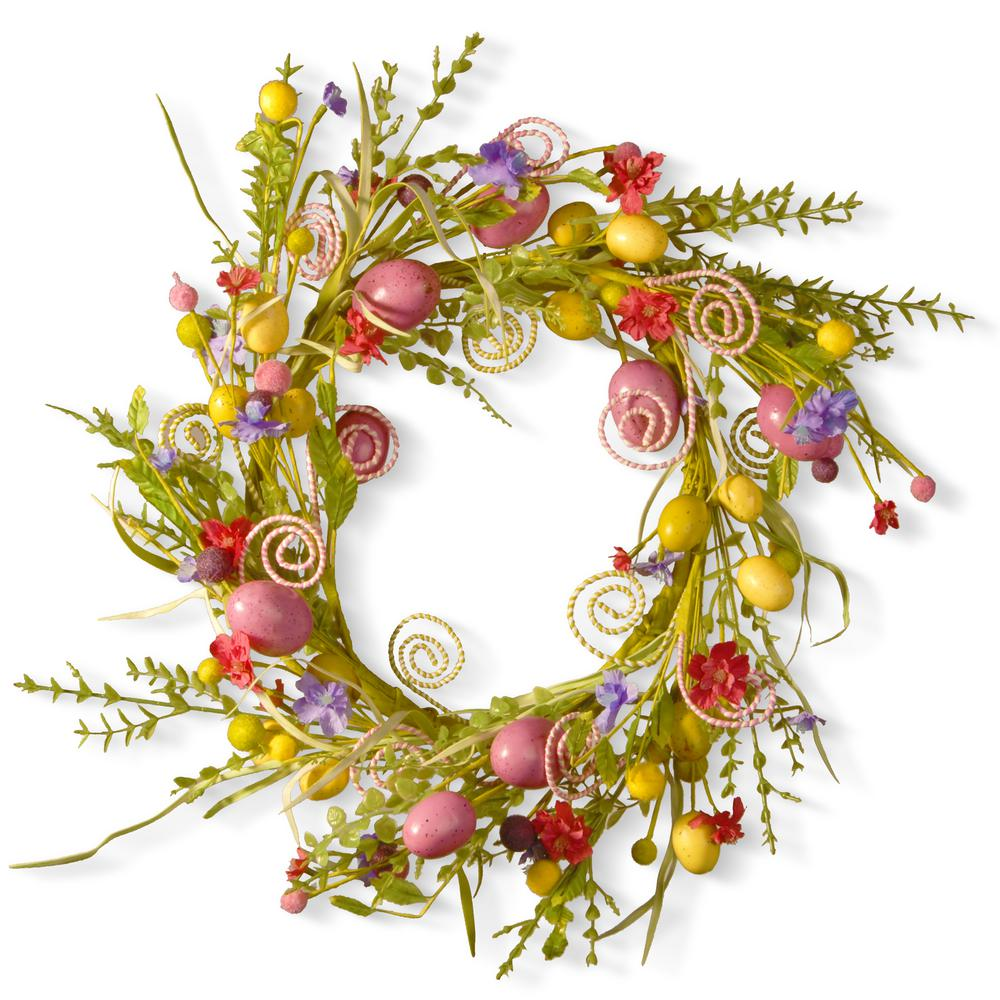 National Tree Company 24 in. Garden Accents Easter Wreath-GAE30 ...