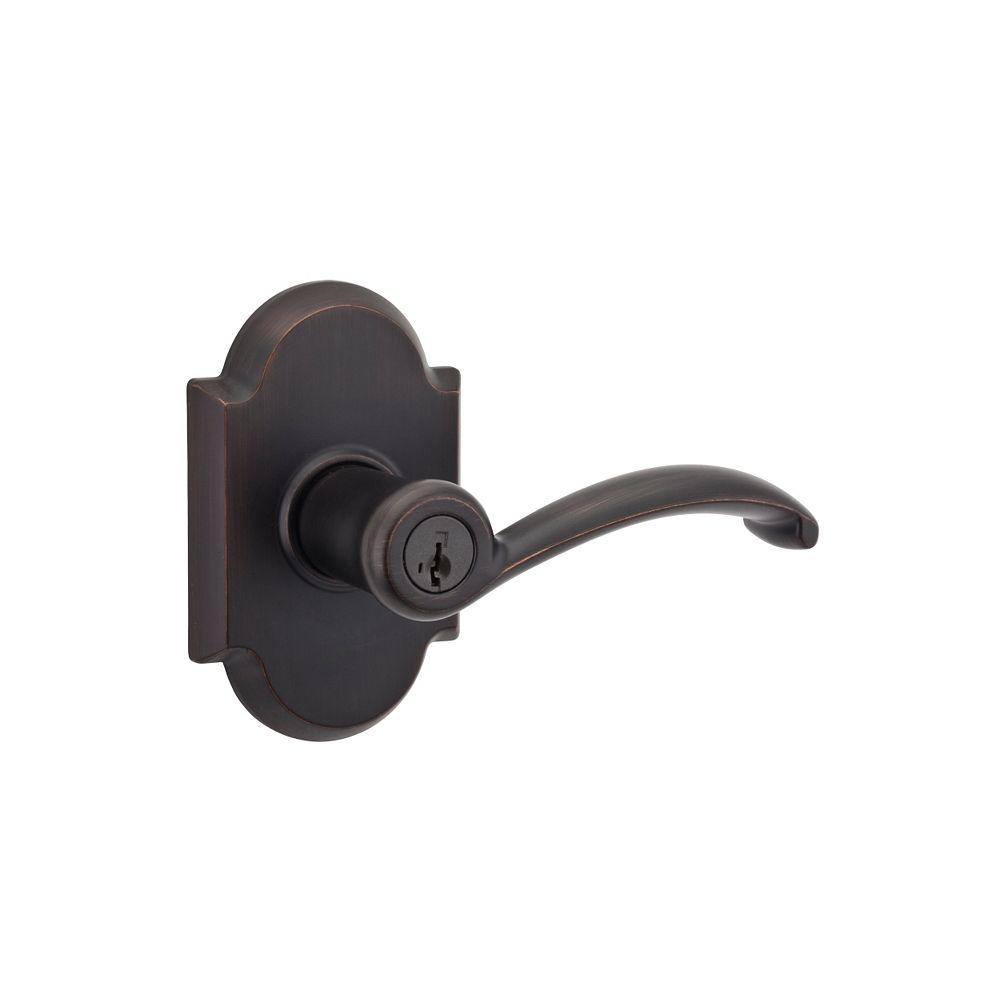 Austin Venetian Bronze Entry Door Lever Featuring SmartKey Security