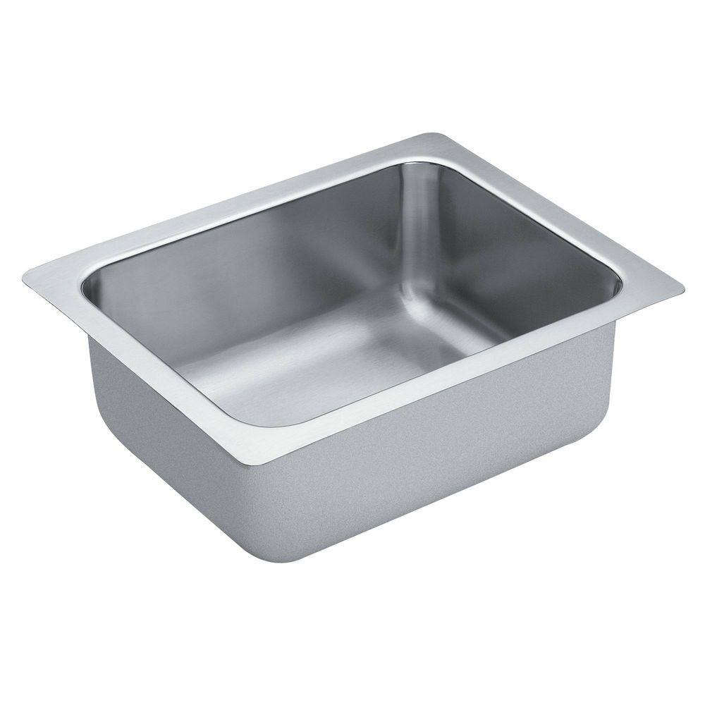 MOEN 1800 Series Undermount Stainless Steel 16 In. Single Bowl Bar Sink