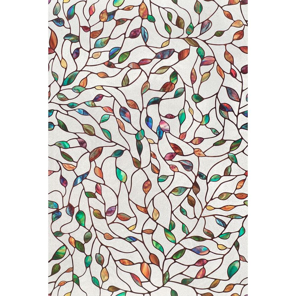 8e281c439d6 Artscape 24 in. x 36 in. New Leaf Decorative Window Film-02-3021 ...
