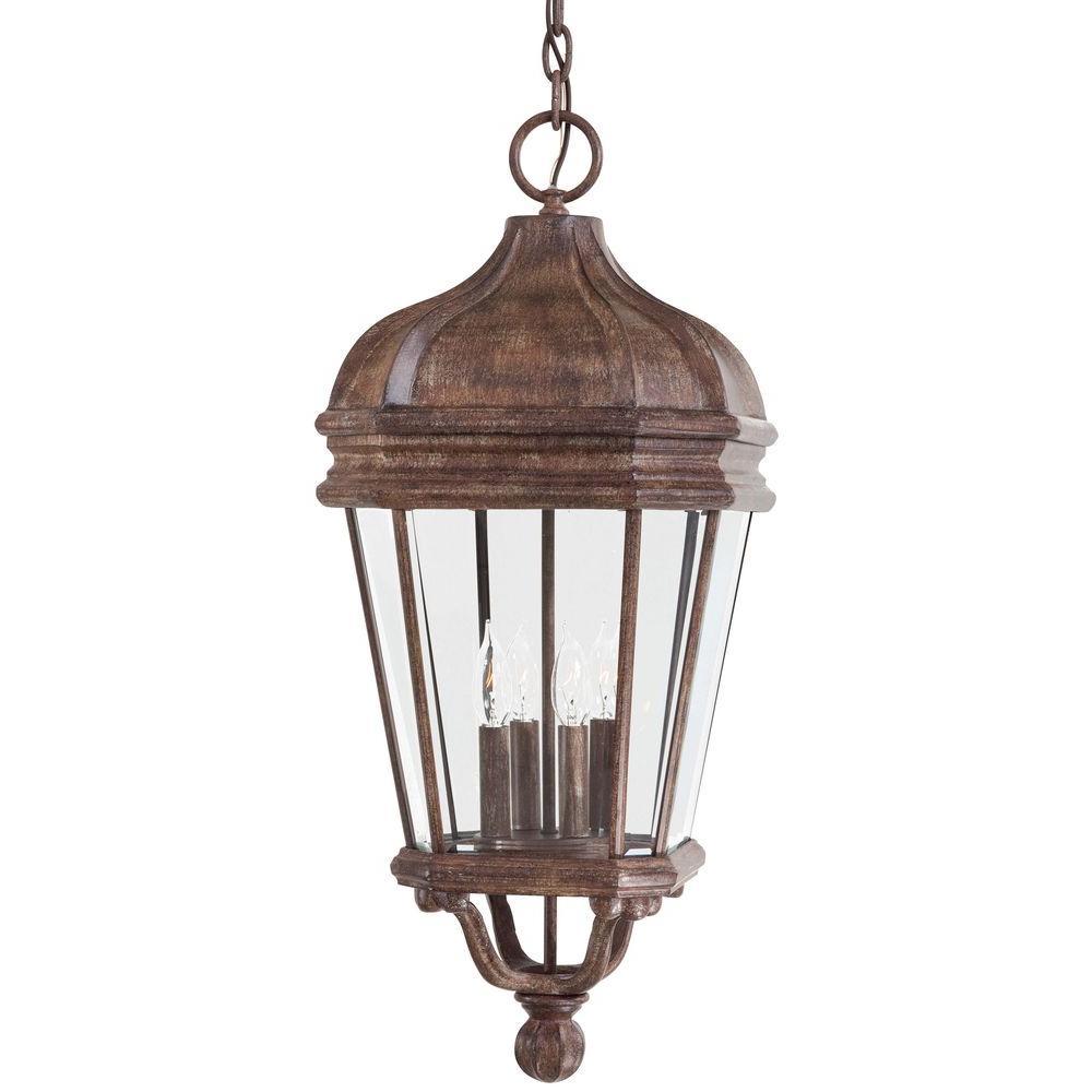 Harrison Vintage Rust 4-Light Indoor/Outdoor Hanging Lantern