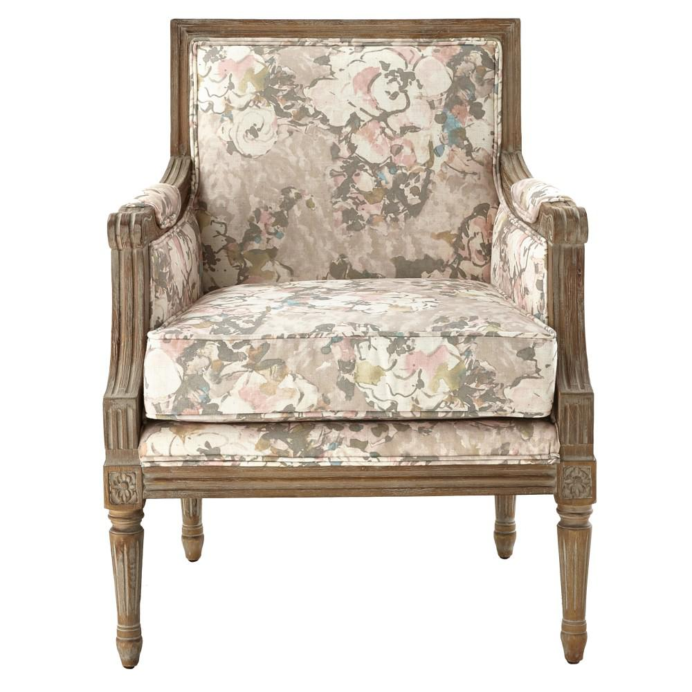 Home Decorators Collection Miria Carre Primrose Blush Upholstered Accent Chair