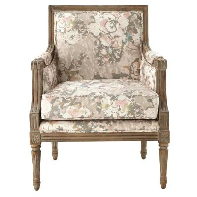 Miria Carre Primrose Blush Upholstered Accent Chair