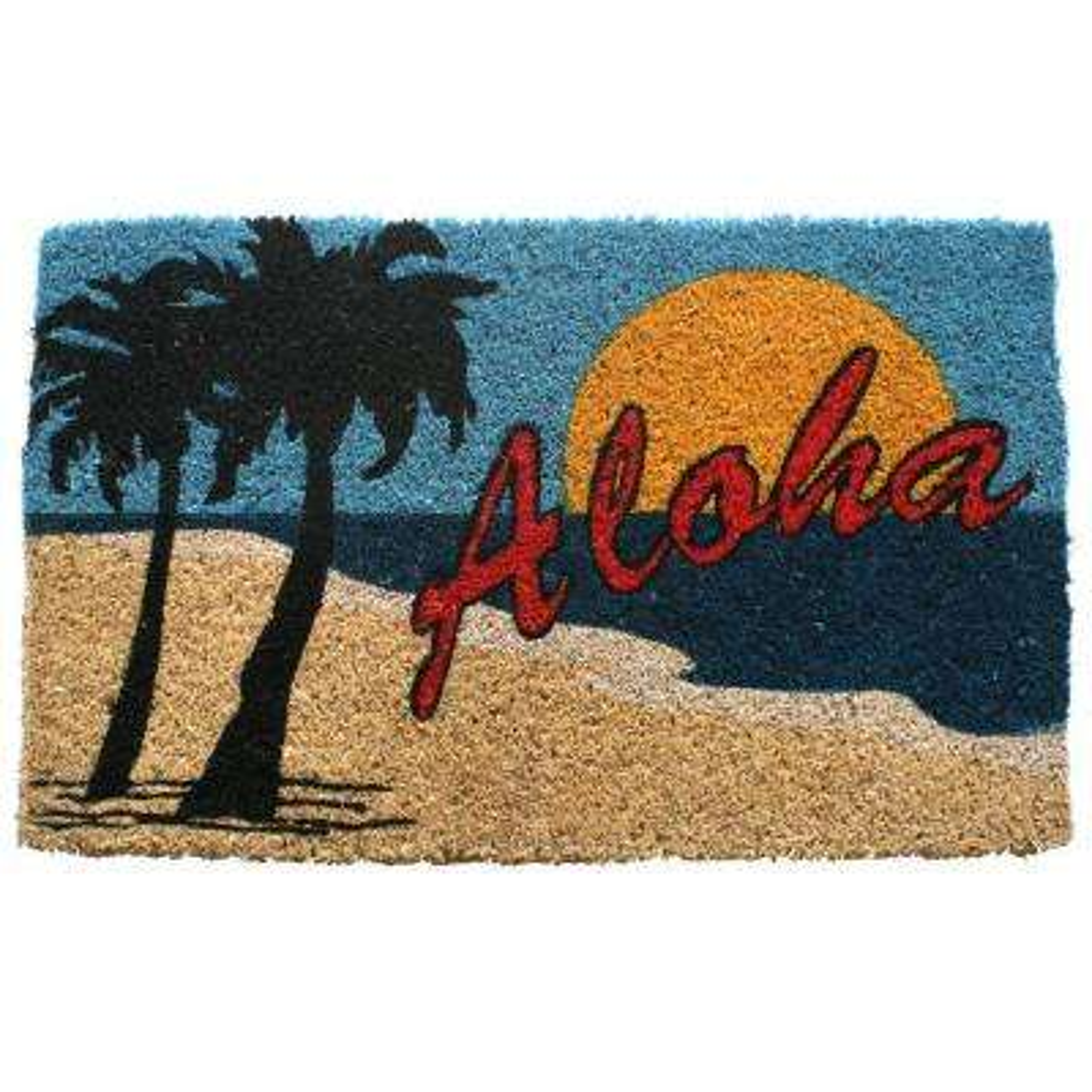 Aloha Beach 18 in. x 30 in. Hand Woven Coconut Fiber Door Mat