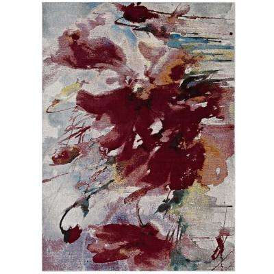 Blume Abstract Floral 5 ft. x 8 ft. Area Rug in Multicolored