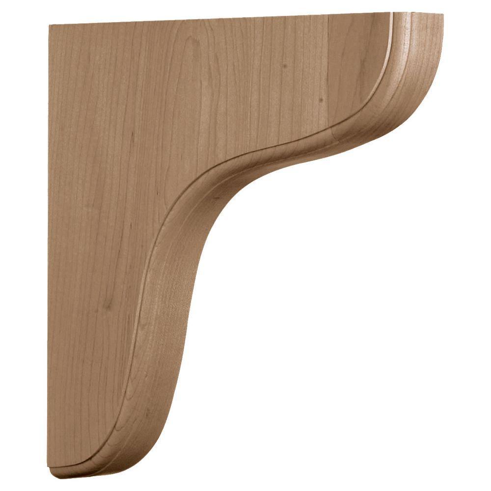 1-3/4 in. x 10-1/2 in. x 10-1/2 in. Unfinished Rubberwood Eaton Wood Corbel
