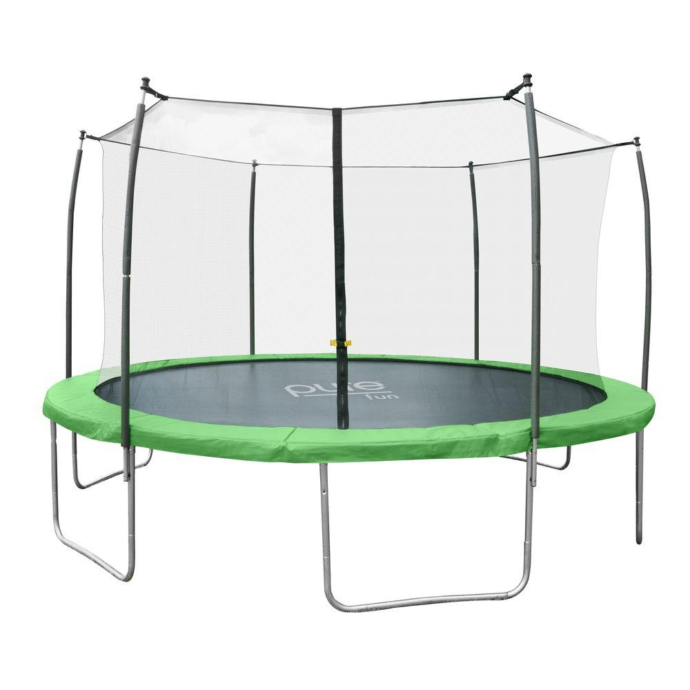 pure fun dura bounce 12 ft trampoline with enclosure 9312ts the