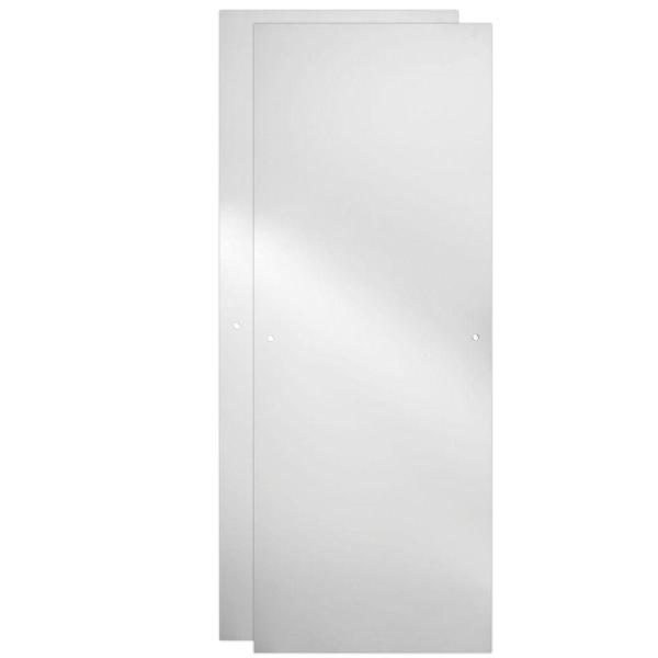23-17/32 in. x 67-3/4 in. x 1/4 in. Frameless Sliding Shower Door Glass Panels in Clear (1-Pair for 44-48 in. Doors)